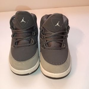 Gray Toddler boy Nike Jordan shoes